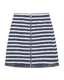 SONIA BY SONIA RYKIEL Stripe Zip Ecru Navy