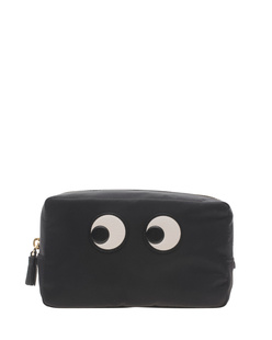ANYA HINDMARCH Make Up Pouch Eyes Black