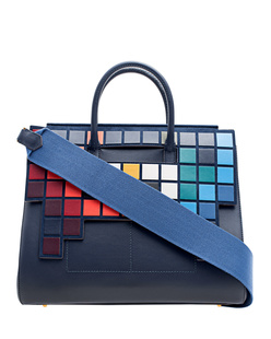 ANYA HINDMARCH Ephson Soft Space Invaders Flap Ink
