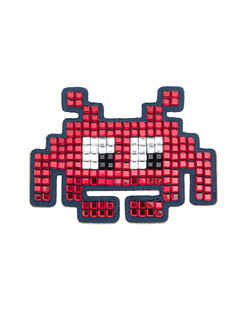 ANYA HINDMARCH Space Invader Diamante Red