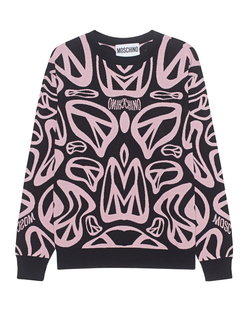 MOSCHINO Peace Allover Pink Black