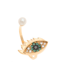 DELFINA DELETTREZ Eyes On Me Piercing Ring Gold