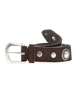B.Belt Vintage Stud Dark Brown