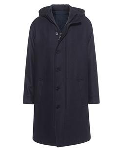 NEIL BARRETT Long Outdoor Wool Navy