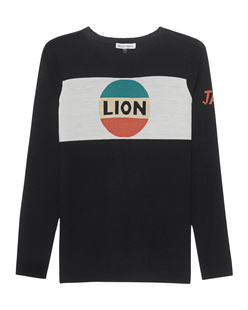 Bella Freud Lion Stripe Jumper Black