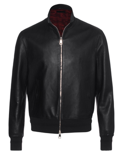 NEIL BARRETT Nappa Smooth Zip Black