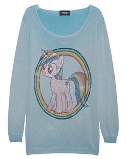 CAMOUFLAGE COUTURE STORK Paradise Unicorn Rainbow Turquoise