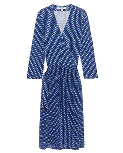 DVF Diane von Furstenberg Irina Diagonal Dots Blue