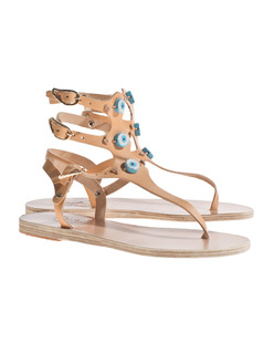Ancient Greek Sandals Eyes High Natural