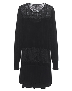 Rachel Zoe Collection Filigree Lace Knit Black