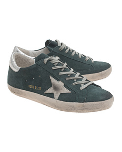 GOLDEN GOOSE Sneakers Superstar Green Suede