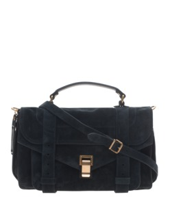 PROENZA SCHOULER PS1 Medium Suede Navy