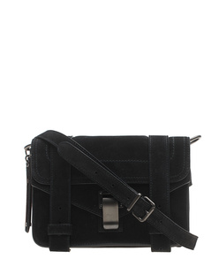 PROENZA SCHOULER PS1 Mini Crossbody Suede Black