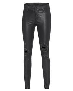 J BRAND Super Skinny Leather Black