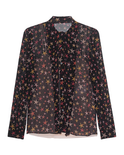 RED VALENTINO Blouse Bow Stars