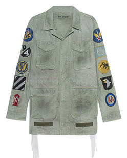 OFF-WHITE C/O VIRGIL ABLOH Field Jacket With Patches Military