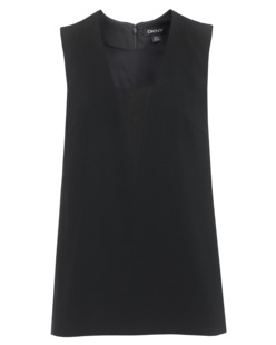 DKNY Sleeveless Crepe Black