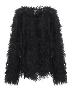 DKNY Fringe Knit Black