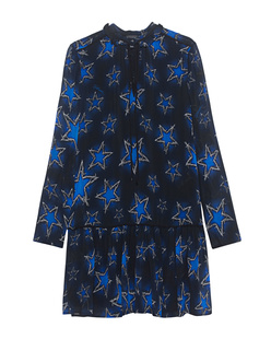 JUST CAVALLI Star Print Dress Black Blue