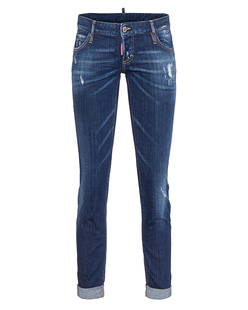 DSQUARED2 Cool Girl Cropped Jean Roll Blue