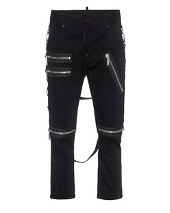 DSQUARED2 Cool Girl Cropped Zip Black
