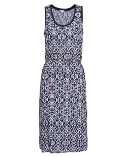 SPLENDID Ikat Print Sleeveless Navy Multi