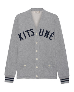 MAISON KITSUNÉ College Lapel Heather Grey