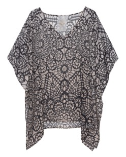 FRIENDLY HUNTING Sun & Sea Beach Poncho Creme Grey