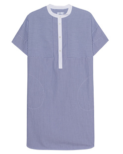 VINCE Poplin Stripe Blue White