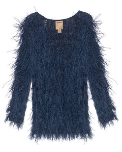 TRUE RELIGION Knit Fringes Night Blue
