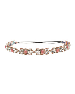 Deepa Gurnani Gemstone Filigree Peach