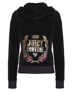 JUICY COUTURE Laurel Velours Original Jacket Pitch Black
