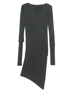 THOM KROM Double Asym Dress Green Grey
