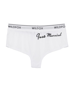 WILDFOX Just Married Tomboy Wedding White