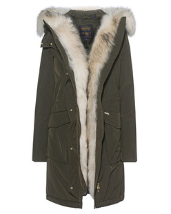 WOOLRICH W's Military Parka Oliv