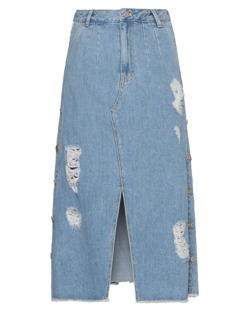 SJYP Denim Side Button Light Blue