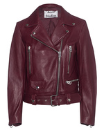 ACNE STUDIOS ACNE STUDIOS Mock Leather Biker Dark Red