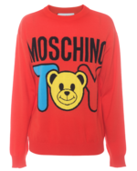MOSCHINO MOSCHINO Knit Bear Toy Red