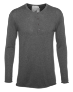 FRIENDLY HUNTING FRIENDLY HUNTING Traverse Henley Medium Grey Melange