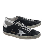 GOLDEN GOOSE GOLDEN GOOSE Superstar Blue Suede Silver Star