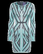 HERVE LEGER HERVE LEGER Agne Geometric Jaquard Turquoise