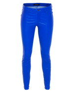 J BRAND J BRAND L8001 Super Skinny Leather Electric Blue