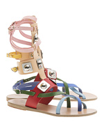 Ancient Greek Sandals Ancient Greek Sandals X Peter Pilotto Low Gladiator Colorful