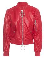OFF-WHITE C/O VIRGIL ABLOH OFF-WHITE C/O VIRGIL ABLOH Baggy Leather Bomber Red