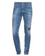 DSQUARED2 DSQUARED2 Cool Guy Jean Long Crotch Tight Bottom Blue