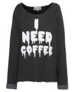 WILDFOX WILDFOX I Need Coffee Morning Dirty Black