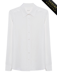 JADICTED Heavy Silk Basic Blouse Off-White
