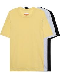 Heron Preston for Calvin Klein Organic 3Pack Yellow Grey Black