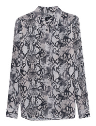 JADICTED Blouse Snake Off-White