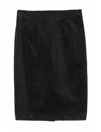 JADICTED Corduroy Skirt Black